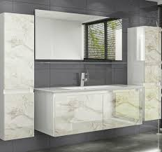 120 cm badmöbel set hochglanz weiss marmor kaufland de