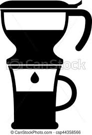 Drip Pot Coffee Maker Clip Art Vector