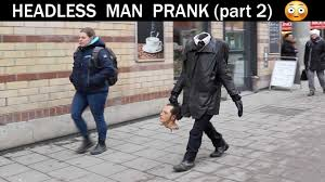 Halloween Scary Pranks 2014 by Headless Man Prank Part 2 Funny Videos Pinterest Funny Videos