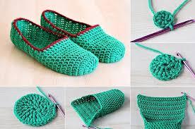 DIY Simple Crochet Slippers Praktic Ideas