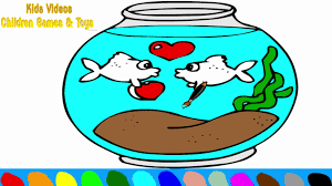 Fish Bowl Coloring Pages For Kids