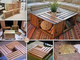 DIYHowto 15 DIY Coffee Table Ideas And Free Plans With Instructions Wine Crate