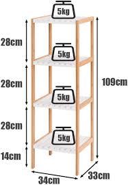 bambusregal badezimmerregal holzregal mehrzweckregal 4