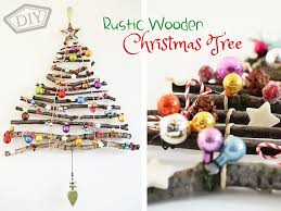 DIY Rustic Wooden Christmas Tree Top Easy Party Interior Decor Design Project
