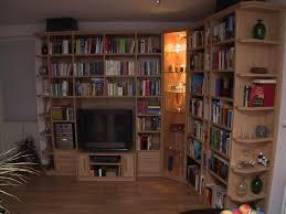 schrankwand wohnzimmer in buche dekor