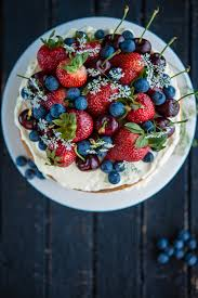 Cakes Decorated With Fruit by Sponge Cake With Berries And Cherries The Hungry Australian