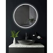 hoko runder led bad spiegel ulm 60cm mit antibeschlag spiegelheizung außen led beleuchtet badezimmerspiegel mit licht rund energieklasse a