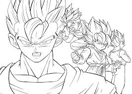Goten Dragon Ball Z Anime Coloring Pages For Kids Printable Free