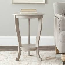 Safavieh Cape Cod Grey Pedestal Side Table Free Shipping Today