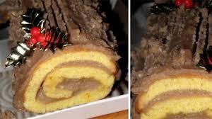 hervé cuisine buche marron bûche de noël à la crème de marrons l express styles