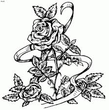 Printable Roses Coloring Pages For Adults 41558