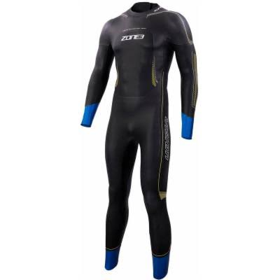 Zone3 Men's Vision Triathlon Swimming Wetsuit - Black and Blue, X-Large
