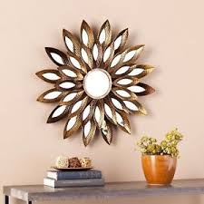 Ebay Decorative Wall Mirrors by Decorative Metal Gold Burnished Wall Mirror Floral Petals Wall