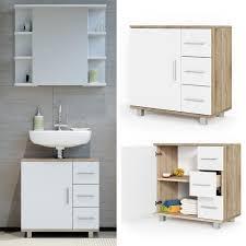 vicco waschbeckenunterschrank ilias weiß sonoma waschtisch unterschrank badezimmer