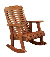 Cedar Wood Contoured Rocking Chair from DutchCrafters Amish Furniture