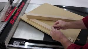 Sawstop Cabinet Saw Dimensions by Tapering Table Legs On Your Sawstop Table Saw Youtube