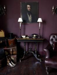 Deep Purple Bedrooms by Dark Purple Aubergine Room With Leather Chair Design And Decor