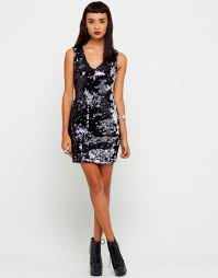 black and silver sequin dress kzdress