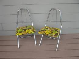 Mid Century Childrens Metal Chrome Folding Chairs-set Of 2 ...
