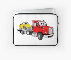 Red Tow Truck Flatbed Cartoon