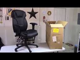 flash furniture high back leather chair assembly bt 9835 gg youtube