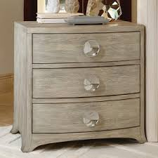 Global Views Bow Front 1 Drawer Chest in Grey