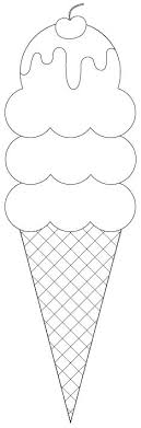 3 Scoop Ice Cream Cone Digital Image Cut Files And Sentiments As Well Templates
