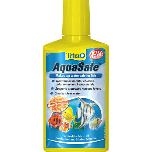 Tetra AquaSafe Turns Tap Water Into Safe and Healthy Water for Fish and Plants - 250ml