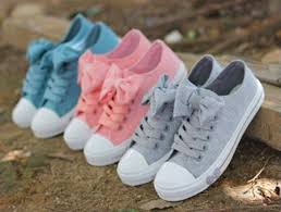 Shoes bow pastel light color pattern pink blue grey grey