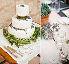 Cake Love A Rustic Lavender And Rosemary Wedding