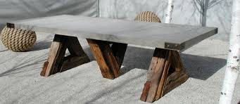 Make Your Own Outdoor Wooden Table by Diy Trestle Table Concrete Slab Wood Spare Time Projects