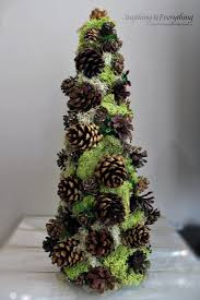 Pine Cone Christmas Tree Tutorial by Pinecone Decorative Tree Trim The Tree Blog Hop Anything