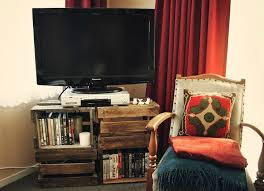Square Stackable Beer Crates Make For A Surprisingly Efficient DIY TV Stand That Can House Your DVD Player And Cable Box As Well Burgeoning Movie