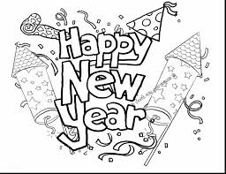 Beautiful Happy New Year Coloring Pages Printable With