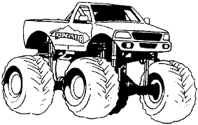 Monster Trucks Coloring Pages Printable Archives Inside Truck Page