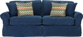Cindy Crawford White Denim Sofa by Cindy Crawford Home Sunny Isles Blue Sofa Sofas Blue