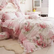FADFAY Home Textile Romantic Rose Print Bedding Sets Blue