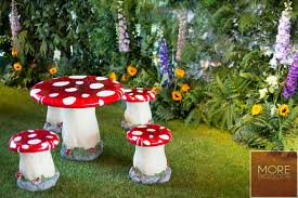 Toadstool Stools & Table Set | More Production Red Toadstool Table Masquespacio Designs Adstoolshaped Fniture For Missana Mushroom Kids Stool Uncategorized Chez Moi By Haute Living Propbox Event Props Fniture Hire Dublin How To Make A Bistro Set Garden In Peterborough Swedish Woodland Robins Floral Side Magentarose Toadstools Fairy Garden
