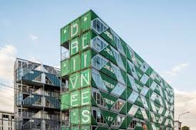 100 Cargo Container Buildings Shipping Container Apartment Building By LOTEK Rises In South