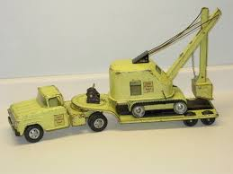 VINTAGE TONKA STATE Hi Way Truck, Low Boy Trailer, Shovel Pressed ...