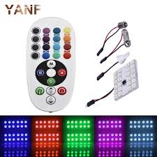 t10 194 168 w5w rgb led 5050 smd multi color changing led l