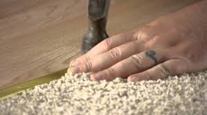 Grip Strip Vinyl Flooring by How To Install A Flooring Transition Strip Flooring Help Youtube