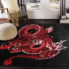 alaza japanisch rot bereich teppich teppiche matte für wohnzimmer schlafzimmer fein 7 x5 mehrfarbig