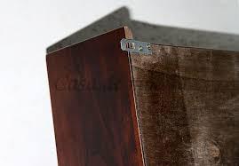 massivholz badezimmer hängevitrine schwarzbraun hängeschrank kolonialfarben badmöbel 2türig mit 2 einlegeböden