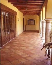 doors terra cotta tile wood ceiling breezeway casas de