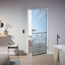 glastüren mit individuellen motiven im badezimmer glastür