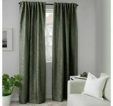 details zu ikea fritse vorhang gardine 145x300 dunkelgrün wohnzimmer schlafzimmer neu ovp