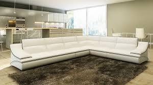 canapé d angle cuire deco in canape d angle cuir design blanc et noir roxa roxa