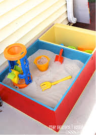 Color-Block Sandbox {Wayfair DIY Challenge!}   The Homes I Have Made 60 Diy Sandbox Ideas And Projects For Kids Page 10 Of How To Build In Easy Fun Way Tips Backyards Superb Backyard Turf Artificial Home Design For With Pool Subway Tile Laundry 34 58 2018 Craft Tos Decor Outstanding Cement Road Painted Blackso Cute 55 Simple 2 Exterior Cedar Swing Set Main Playground Appmon House