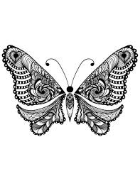 Free Adult Coloring Butterfly Page 2